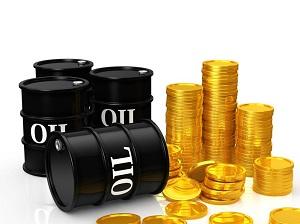 スポット金、WTI原油ともに下落