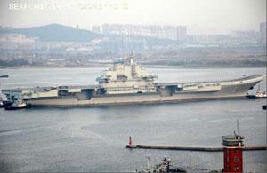 中国の航空母艦「遼寧」、本日で...