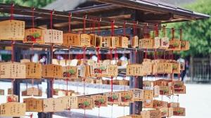 日本の神社で見かけた中国語の絵馬「これ以上禿げませんように」=中国メディア